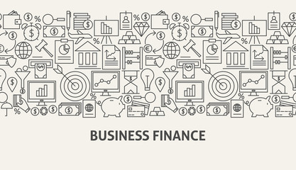 Business Finance Banner Concept