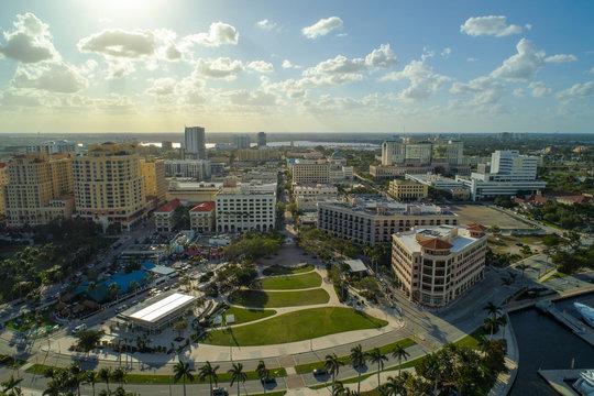 Aerial image Flagler Park West Palm Beach Florida