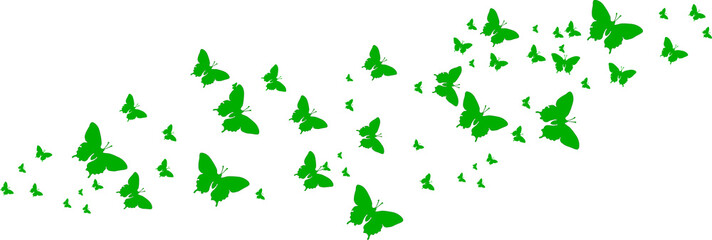 Grüne Schmetterlinge