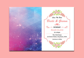 Save The Date Card Layout with Photo Insert