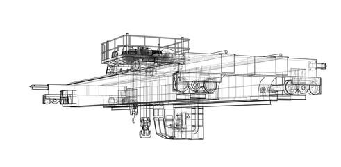 Overhead crane sketch
