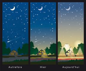 Pollution lumineuse - Au fil du temps