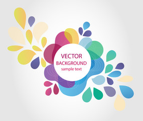 bright colored abstract background, vector illustration