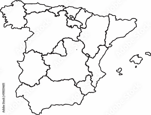Map Of Spain Download Free.Freehand Spain Map Sketch On White Background Stock Image And