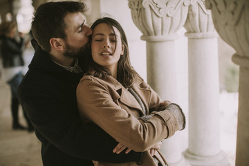 Portrait of romantic loving couple