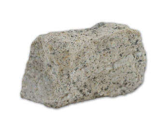 Granite rock isolated on the white background