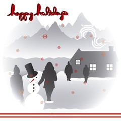 merry christmas happy holidays landscape 4