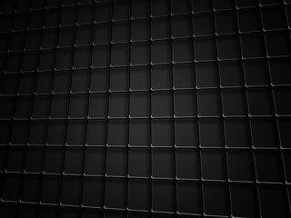 Silver And Black Metal Wire Mesh Grid On Black Background