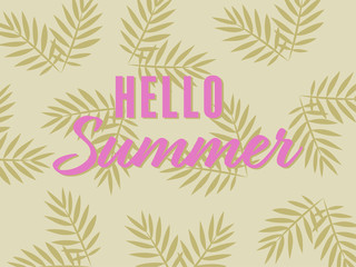 hello summer – greeting card template