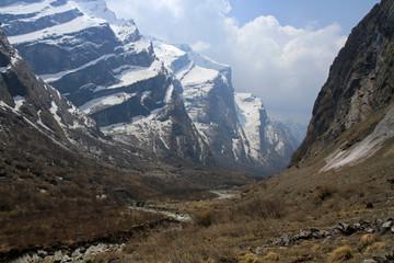 Gates of Annapurna Sanctuary, Modi Khola River, Annapurna Conservation Area, Himalayas, Nepal