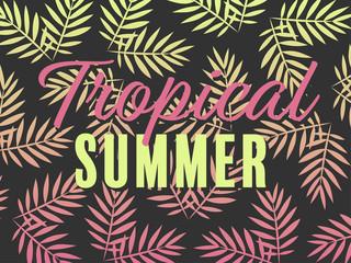tropical summer – card template