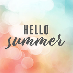 summer background with calligraphic text