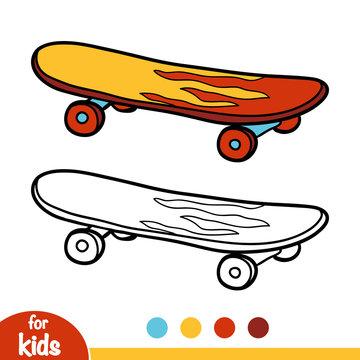 Coloring book, Skateboard