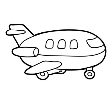 Coloring book, Airplane