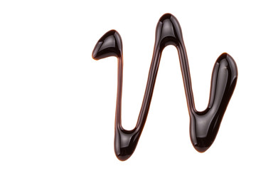 sweet chocolate syrup isolated on a white background