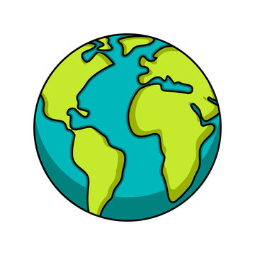 Isolated earth icon image. Earth day