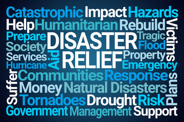 Disaster Relief Word Cloud