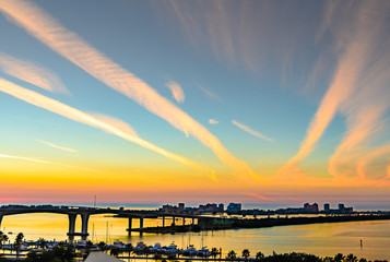Rooftop sunset from downtown clearwater