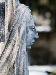 Stone Lady Looking Longingly into the distance (Isolation, Religion, Fixation)