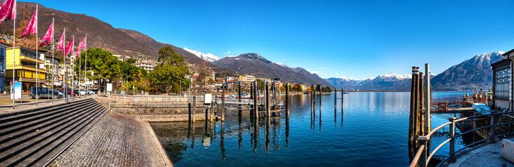 Promenade in Locarno, Lago Maggiore, Schweiz