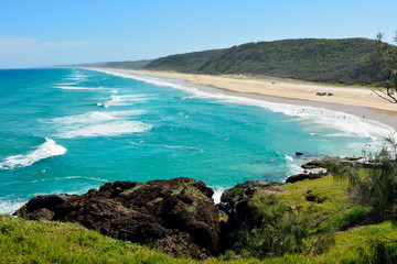 40-mile beach in Great Sandy National Park in Australia.