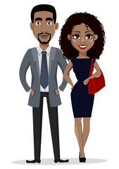 African American business man and business woman
