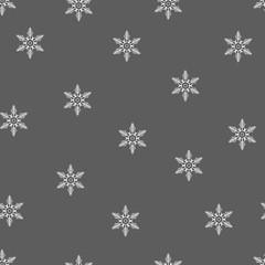 Winter Seamless Snowflake Pattern. Vector EPS 10. snowflakes seamless