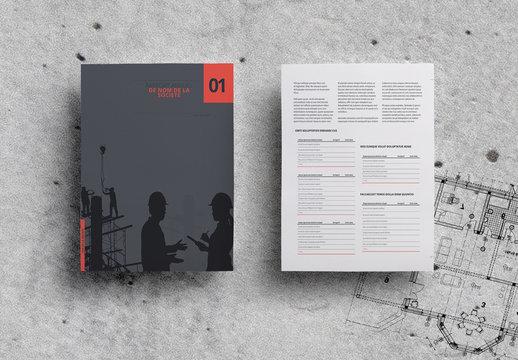 Modèle de rapport annuel minimaliste