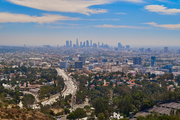 Downtown Los Angeles seen from Mulholland Drive