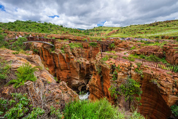 Bourkes Luck Potholes view, amazing canyon scenery, South Africa