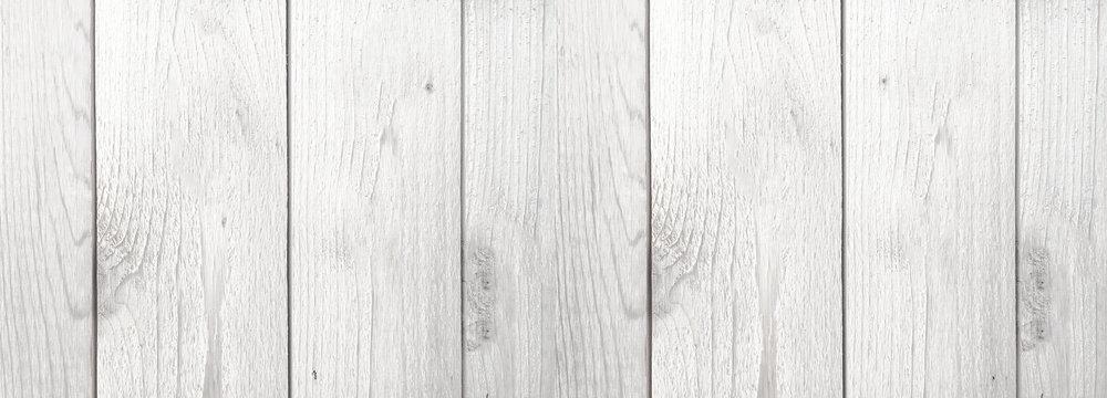 Whitewashed Wood Grain Farmhouse Style Shiplap Background Texture, Horizontal