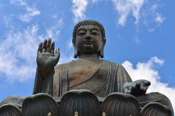Large Buddha Statue against Blue Sky