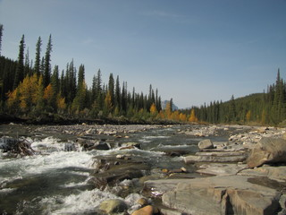Foto auf Leinwand Fluss Stream at Crescent Falls 3