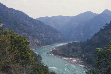 beautiful river in Himalayas