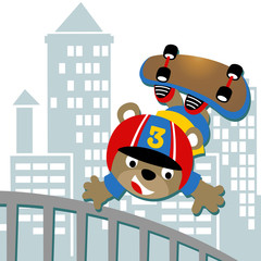 skateboarder cartoon. Eps 10