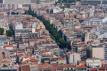 マルセイユの町並み