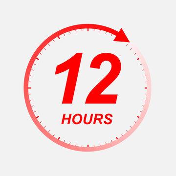 12 hour vector icon