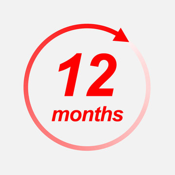 12 months vector icon