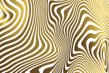 Golden zebra background