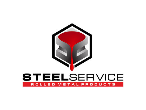 Logo steel service. Rolled metal products