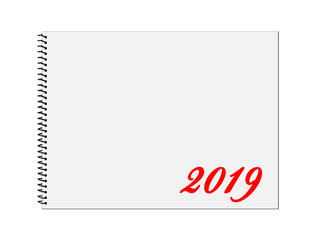 Kalender, 2019, Ringbuch