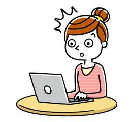 女性:インターネット、パソコン
