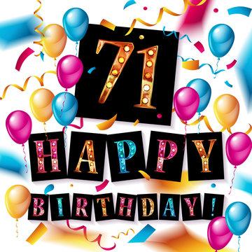 71 years anniversary, happy birthday