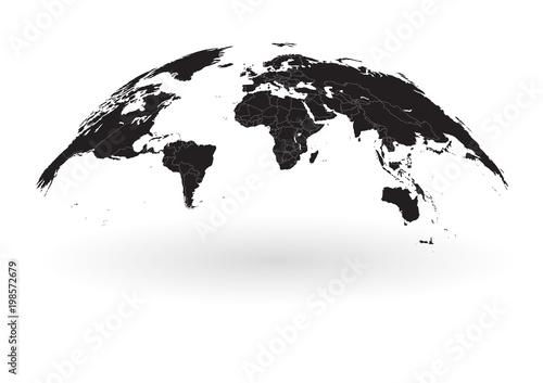 Black world map globe isolated on white background stock image black world map globe isolated on white background gumiabroncs Image collections