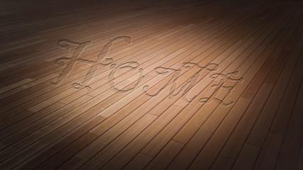 Household wooden floor