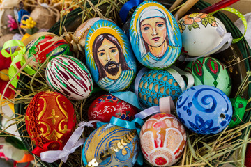 Composition of Easter eggs