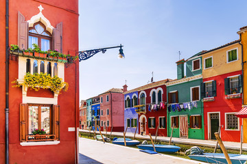 colorful houses Burano Island, Venice