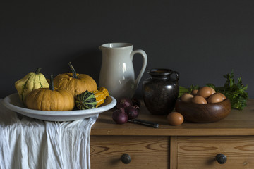 Still life based on a painting by an old master painter.