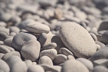sea stones,stones on the beach,.vacation at sea, seashore in Albir, a Spanish beach