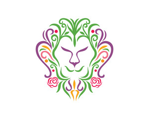 Blooming Flower, Blossom, Lion Ornament